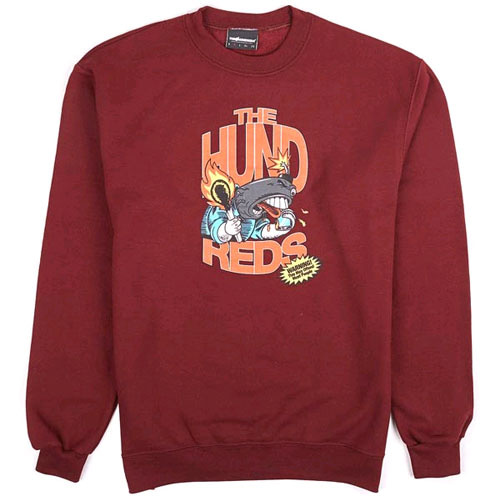 THE HUNDREDS X CHAMPION Calling Crew Neck BRG
