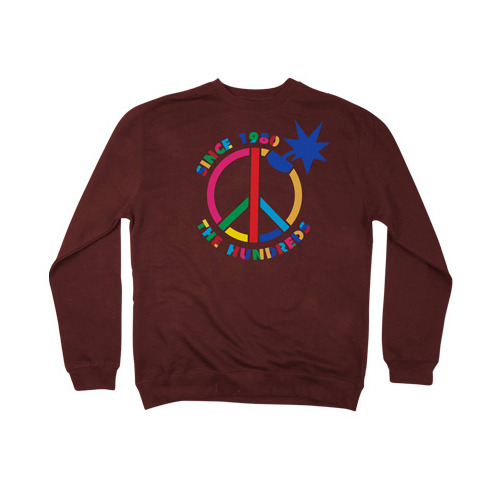 THE HUNDREDS Peace CREW NECK [1]