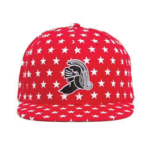 BLACK SCALE KNIGHT ALL STAR SNAPBACK (RED)