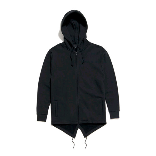 50%saleBLACK SCALE De Vault Fishtail Hoody (Black)