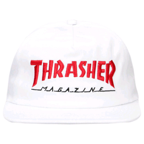 THRASHER MAGAZINE LOGO TWO-TONE HAT (WHITE/RED)