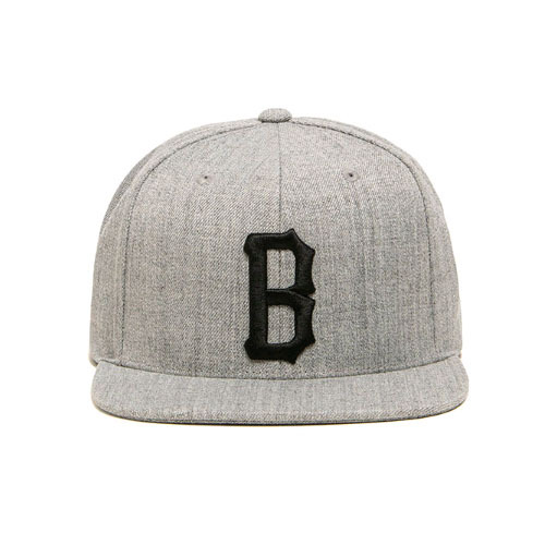 BLACKSCALE B Logo Snap Back Grey