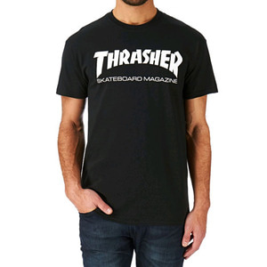 THRASHER SKATE MAG T-SHIRT (BLACK)