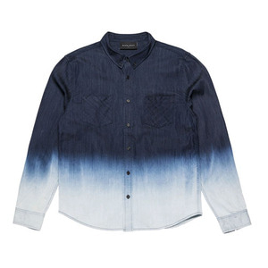 BLACKSCALE DIP DYE DENIM BUTTON DOWN BLUE