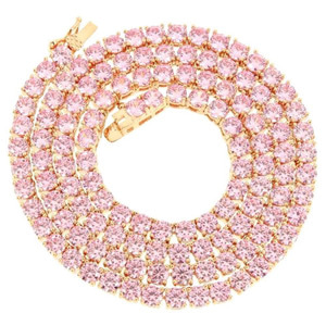 ROI'AL Pink Tennis Necklace