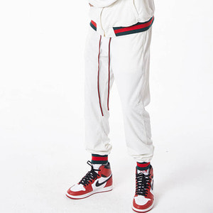 FNTY Velvet Gucci sweatpants WHITE