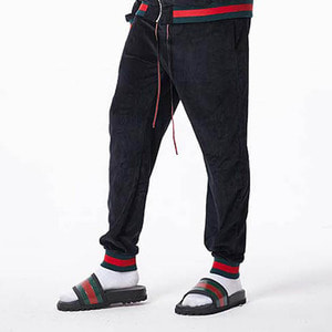 FNTY Velvet Gucci sweatpants BLACK