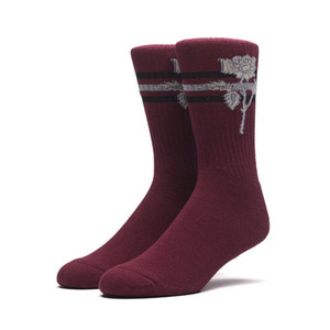 HUF X AMBUSH ROSE SOCKS MAROON