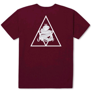 HUF X AMBUSH TRIPLE TRIANGLE S/S TEE MAROON