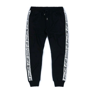 STIGMA SIDE TAPE HEAVY SWEAT JOGGER PANTS BLACK