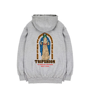 TRIPSHION JESUS STAND HOODIE - GRAY