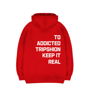 TRIPSHION KEEP IT REAL HOODIE - RED