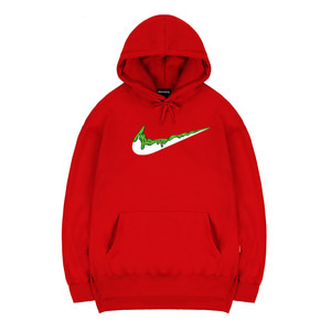 TRIPSHION GREEN BENDING TOOTHPASTE HOODIE - RED