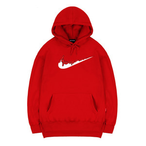 TRIPSHION RED BENDING TOOTHPASTE HOODIE - RED
