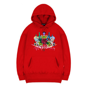 TRIPSHION FAMILY HOODIE - RED