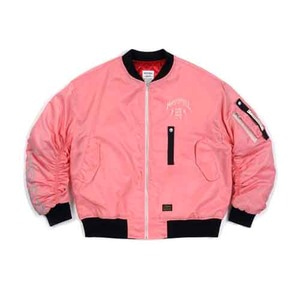 STIGMA MASTERPIECE OVERSIZED MA-1 JACKET PINK