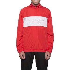 HUF STADIUM HALF ZIP TRACK JACKET RED