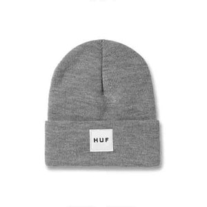HUF BOX LOGO BEANIE HEATHER GREY