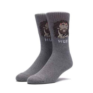HUF DECEMBER DUDES SERIES SOCK CHARCOAL