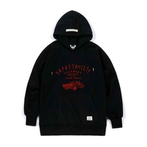 STIGMA LOW RIDER BRUSHED HEAVY SWEAT HOODIE BLACK
