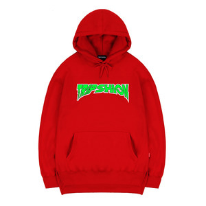 TRIPSHION GREEN NEON HOODIE - RED