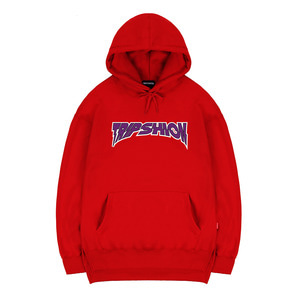 TRIPSHION PURPLE NEON HOODIE - RED
