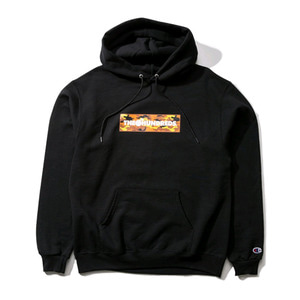 THE HUNDREDS X CHAMPION CAMO BAR PULLOVER BLACK