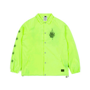 STIGMA DUST OVERSIZED COACH JACKET NEON GREEN