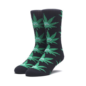 HUF GREEN BUDDY CREW SOCKS BLACK