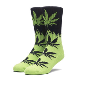 HUF FLAME PLANTLIFE SOCKS BLACK/GREEN