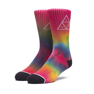 HUF TIEDYE TRIPLE TRIANGLE SOCKS RAINBOW