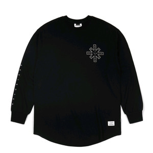 STIGMA DESTROYER LAYERED LONG SLEEVES T-SHIRTS BLACK