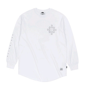 STIGMA DESTROYER LAYERED LONG SLEEVES T-SHIRTS WHITE