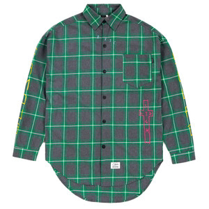 STIGMA GUADALUPE OVERSIZED CHECK SHIRTS GREEN