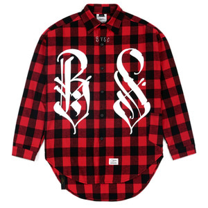 STIGMA BS OVERSIZED WORK SHIRTS RED