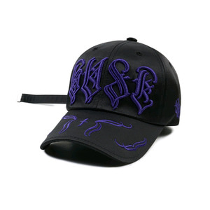 STIGMA WAVE SATIN BASEBALL CAP BLACK