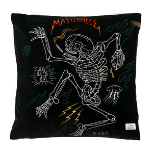 STIGMA MASTERPIECE VELVET THROW PILLOW BLACK