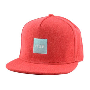 HUF DENIM BOX LOGO SNAPBACK RED