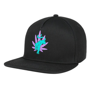 HUF BLACKLIGHT PANTHER SNAPBACK BLACK