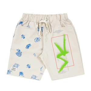 STIGMA VS PATTERN SHORT PANTS BEIGE