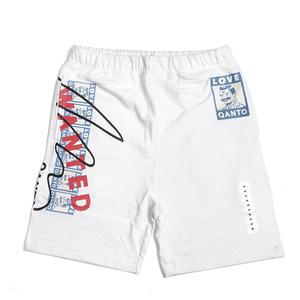 QANTO DE LOCOS WANTED SHORTS_WHITE