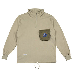 HOUNDVILLE 3D POCKET warm up jacket khaki