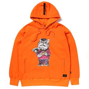 STIGMA CATSGANG HEAVY SWEAT HOODIE ORANGE