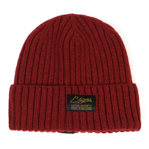 STIGMA LABEL WOOL BEANIE BURGUNDY