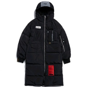 STIGMA TIGER DUCKDOWN LONG PADDING JACKET BLACK