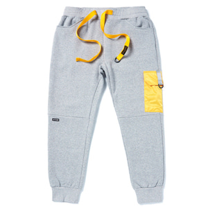 STIGMA STGM POCKET HEAVY SWEAT JOGGER PANTS GREY
