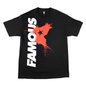 FAMOUS SIDE SPLAT MENS TEE BK