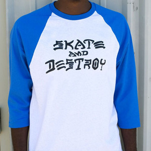 THRASHER SKATE AND DESTOY RAGLAN