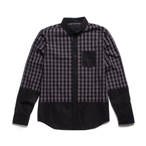50%saleBLACK SCALE KENNEDY BUTTON DOWN