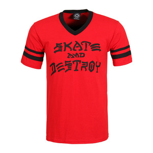 THRASHER SKATE & DESTROY RINGER (RED/BLACK)